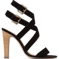 Rzymianki damskie: Skórzane sandały z podwójną sprzączką