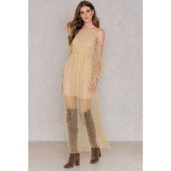 Długie sukienki: Passion Fusion Sukienka Cekinowa Maxi - Pink,Nude
