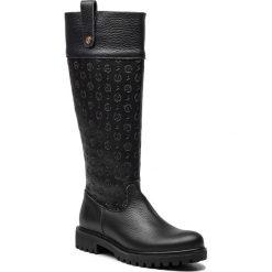 Oficerki POLLINI - TA26023G04Q2100A  Vit.Nero. Czarne buty zimowe damskie Pollini, ze skóry ekologicznej, przed kolano, na wysokim obcasie, na obcasie. Za 1209,00 zł.