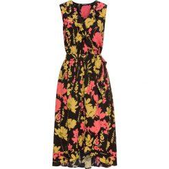 Sukienki hiszpanki: Sukienka kopertowa z falbanami bonprix czarny w kwiaty
