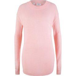 Sweter z dekoltem w łódkę bonprix pastelowy jasnoróżowy. Czerwone swetry klasyczne damskie bonprix, z dekoltem w łódkę. Za 54,99 zł.