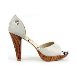 Czółenka które można nosić na 2 Sposoby. Białe buty ślubne damskie marki Merg. Za 69,00 zł.