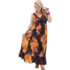 Sukienki: Sukienka w kolorze czarno-pomarańczowym