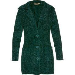Płaszcze damskie: Płaszcz dzianinowy szeniliowy bonprix ciemnozielony