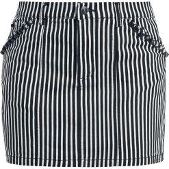 Sourpuss Striped Skirt Spódnica czarny/biały. Białe spódniczki Sourpuss, m, z materiału. Za 199,90 zł.