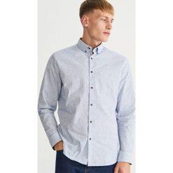 Odzież: Wzorzysta koszula SLIM FIT - Granatowy