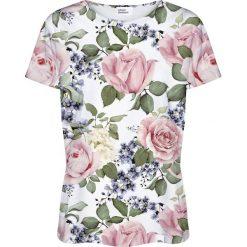 Colour Pleasure Koszulka damska CP-030 104 biało-zielona r. XL/XXL. Białe bluzki damskie Colour pleasure, xl. Za 70,35 zł.
