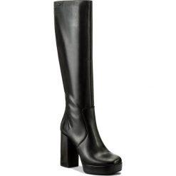 Kozaki EVA MINGE - Estrella 2L 17SF1372244EF 101. Czarne buty zimowe damskie Eva Minge, ze skóry, przed kolano, na wysokim obcasie. W wyprzedaży za 369,00 zł.
