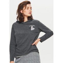 Bluza z kapturem - Szary. Czarne bluzy z kapturem damskie marki DOMYOS, xl, z bawełny. W wyprzedaży za 29,99 zł.