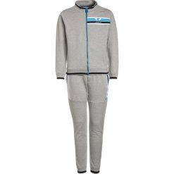 Armani Junior TUTA SPORTIVA SET  Bluza rozpinana melange grigio. Szare bluzy dziewczęce rozpinane Armani Junior, z bawełny. W wyprzedaży za 408,85 zł.