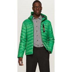 Kurtki chłopięce: Pikowana kurtka z kapturem - Zielony