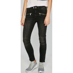 Tommy Hilfiger - Jeansy Venice. Czarne jeansy damskie TOMMY HILFIGER, z bawełny, z podwyższonym stanem. W wyprzedaży za 629,90 zł.