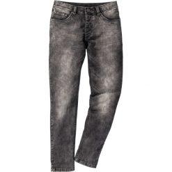 Dżinsy dresowe Skinny Fit Straight bonprix szary denim. Szare jeansy męskie relaxed fit marki bonprix, z denimu. Za 59,99 zł.