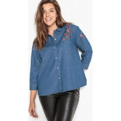 Koszule wiązane damskie: Koszula z denimu z haftem