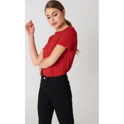 NA-KD Basic T-shirt basic - Red. Różowe t-shirty damskie marki NA-KD Basic, z bawełny. Za 36,95 zł.