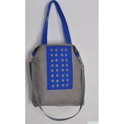 Torba hobo XXL - szarość, kobalt. Szare torebki klasyczne damskie Pakamera, z syntetyku. Za 129,00 zł.