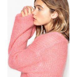 Sweter oversize, moher. Białe kardigany damskie La Redoute Collections, l, z moheru. Za 283,46 zł.