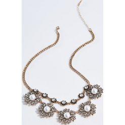 Naszyjniki damskie: Naszyjnik z syntetycznymi perłami – Wielobarwn