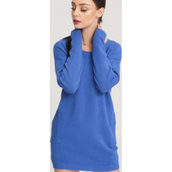 Niebieski Sweter Nonchalance. Zielone swetry klasyczne damskie marki other, l, prążkowane. Za 74,99 zł.