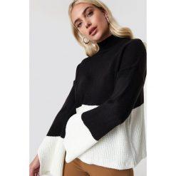 Trendyol Sweter z golfem - Black,White. Szare golfy damskie marki Vila, l, z bawełny, z okrągłym kołnierzem. Za 121,95 zł.