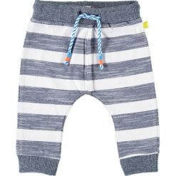 Spodnie niemowlęce: Spodnie w kolorze szaro-białym
