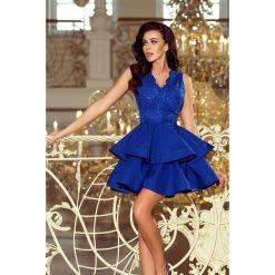 Sukienki: Sabrina - ekskluzywna sukienka z koronkowym dekoltem - CHABROWA