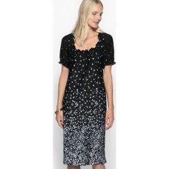 Sukienki dzianinowe: Sukienka prosta z nadrukiem, miękka dzianina