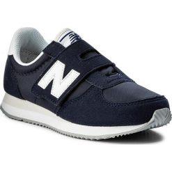 Sneakersy NEW BALANCE - KV220NVY Granatowy. Niebieskie trampki chłopięce marki New Balance, z materiału, na rzepy. W wyprzedaży za 199,00 zł.