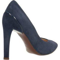 Czółenka ANET. Niebieskie buty ślubne damskie Gino Rossi, ze skóry, na wysokim obcasie, na szpilce. Za 249,90 zł.