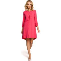 LILA Rozkloszowana sukienka z szerokimi rękawami - różowa. Czerwone sukienki na komunię Moe, na imprezę, rozkloszowane. Za 159,90 zł.