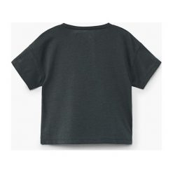 Mango Kids - Top dziecięcy Animal 80-104 cm. Szare bluzki dziewczęce marki bonprix, m, melanż, z dzianiny, z kontrastowym kołnierzykiem. Za 19,90 zł.