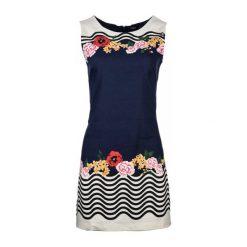 Desigual Sukienka Damska 42 Ciemnoniebieski. Czarne sukienki balowe Desigual, na co dzień, uniwersalny, z materiału. W wyprzedaży za 349,00 zł.