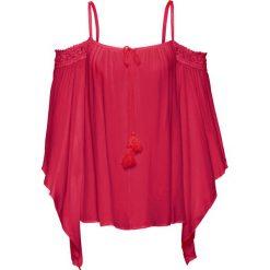 Bluzki damskie: Bluzka z odsłoniętymi ramionami bonprix ciemnoczerwony