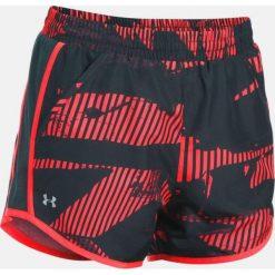 Odzież sportowa męska: Under Armour Spodenki damskie Fly-By Perforated Shorts czarno-czerwone r. M (1297126-964)