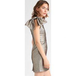 Sukienki hiszpanki: Topshop Sukienka etui gold