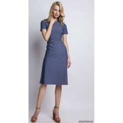 Sukienka, SUK127 jeans. Niebieskie sukienki z falbanami marki Pakamera, z bawełny. Za 183,00 zł.