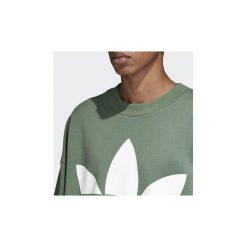 Bluzy adidas  Bluza oversize z zaokrąglonym dekoltem Trefoil. Zielone bluzy męskie rozpinane Adidas, l. Za 299,00 zł.