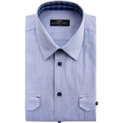 Koszula ALESSIO D 15-01-63-K. Niebieskie koszule męskie na spinki Giacomo Conti, m, z bawełny, z klasycznym kołnierzykiem, z długim rękawem. Za 169,00 zł.