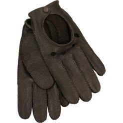 Rękawiczki męskie. Brązowe rękawiczki męskie Gino Rossi, na zimę, ze skóry. Za 179,90 zł.