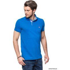 Koszulki męskie: Koszulka polo niebieska z jeansem