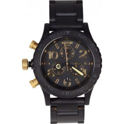 Zegarki męskie: Nixon – Zegarek  Chrono Matte Black/Gold