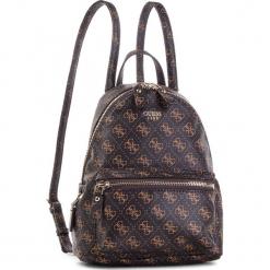 Plecak GUESS - HWQE45 57310 BRO. Brązowe plecaki damskie marki Guess, z aplikacjami, ze skóry ekologicznej, eleganckie. Za 559,00 zł.