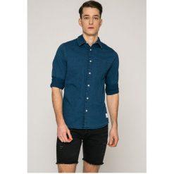 Calvin Klein Jeans - Koszula. Szare koszule męskie jeansowe Calvin Klein Jeans, m, z klasycznym kołnierzykiem, z długim rękawem. W wyprzedaży za 279,90 zł.
