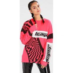 Bluzki asymetryczne: Jaded London NEON PRINT MOTORCROSS Bluzka z długim rękawem neon pink