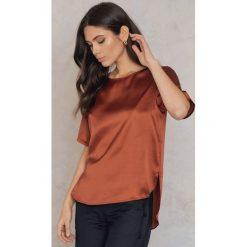 Bluzki asymetryczne: Rut&Circle Bluzka Issie - Orange,Copper