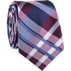 Krawat KWWR001783. Czerwone krawaty męskie Giacomo Conti, w kratkę, z mikrofibry. Za 69,00 zł.