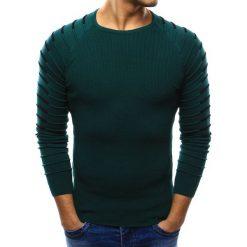 Swetry klasyczne męskie: Sweter męski zielony (wx0978)
