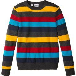Odzież chłopięca: Sweter dzianinowy w paski bonprix w kolorowe paski