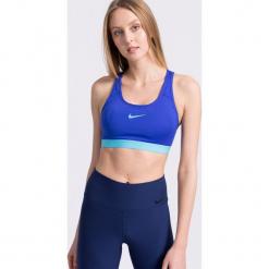 Nike - Biustonosz. Szare biustonosze sportowe Nike, z dzianiny. W wyprzedaży za 119,90 zł.