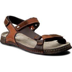Sandały NIK - 06-0163-00-0-07-00 Jasny Brąz. Brązowe sandały męskie skórzane Nik. W wyprzedaży za 159,00 zł.